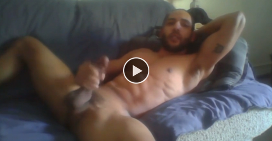 Straight fit guy on couch