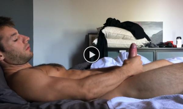 Solo big dick masturbation
