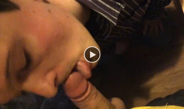 Sucking the friend big cock