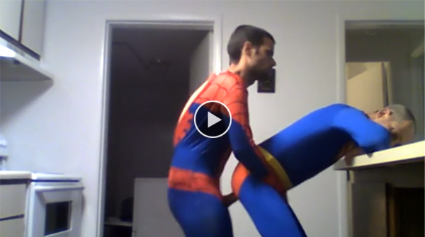 Spiderman fucks superman