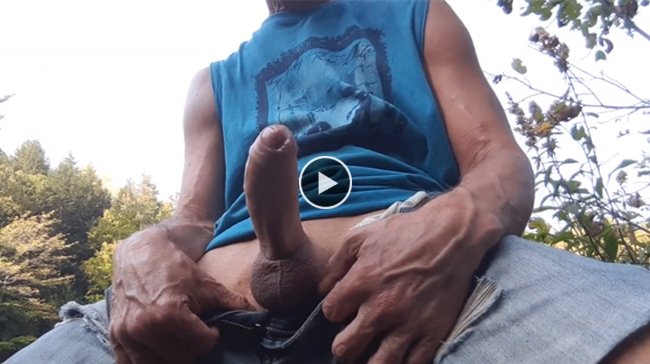 Big cock and nature