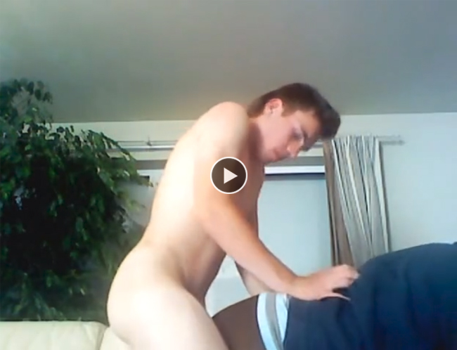 Nasty amateur straighty gets blowjob