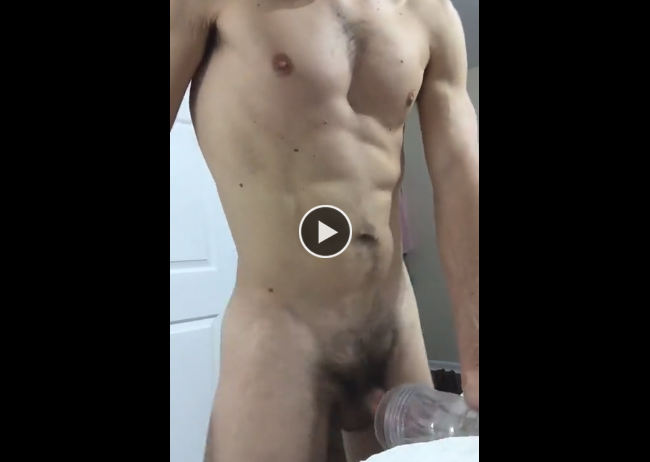 Small cock fucks fleshlight