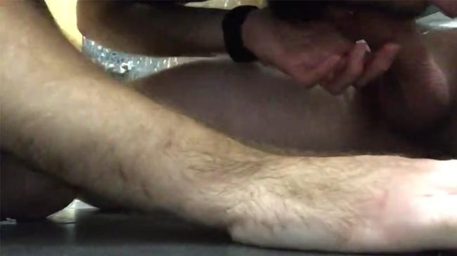 Under stall gay porn