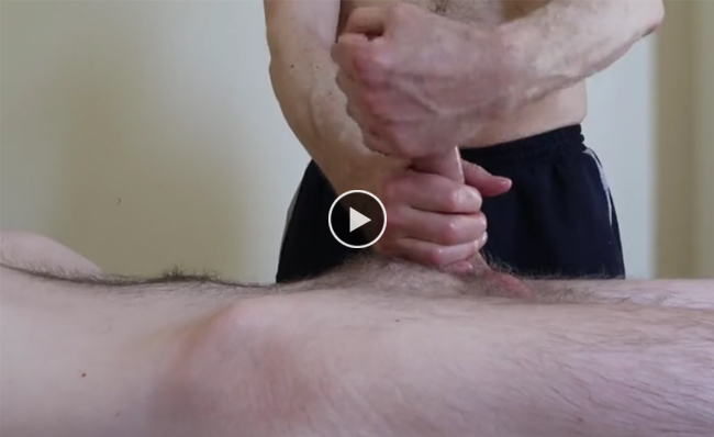 Milking a horny young guy